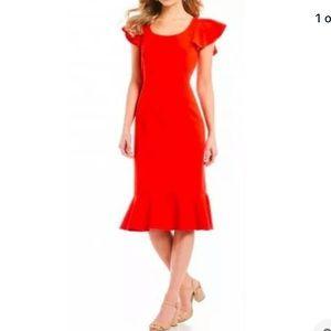 Antonio Melani Zion Flutter Sleeve Ruffle Dress